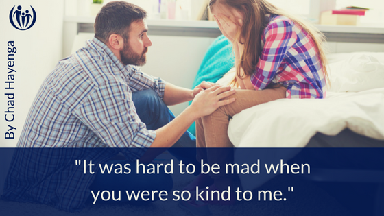 It was hard to be mad when you were so kind to me.