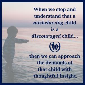 misbehaving child discouraged