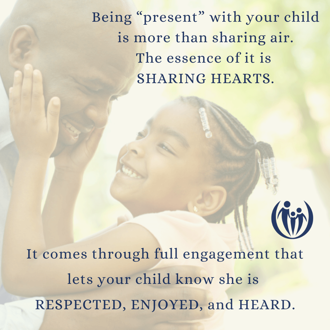 Being present with our kids