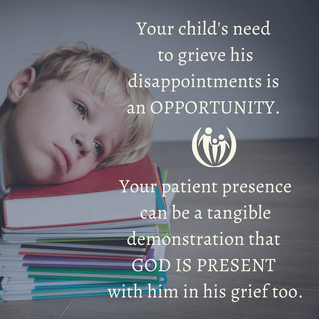 help your struggling child with his grief