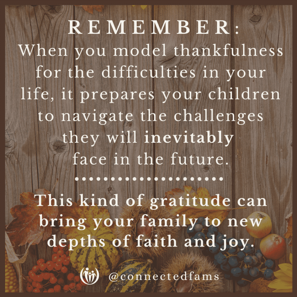 gratitude for our most important blessings